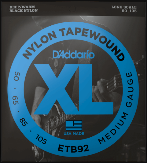 D'Addario ETB92 Nylon Tapewound Long Scale 4-String Bass Strings