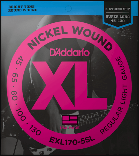 D'Addario EXL170-5SL Super Long Scale 5-String Bass Strings