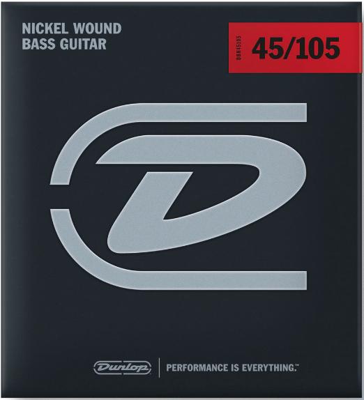 Dunlop  DBN45105 Nickel Wound Bass Strings-Medium Guage