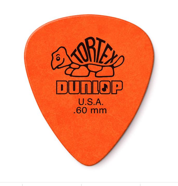 Dunlop 12 Pack Tortex Standard .60MM