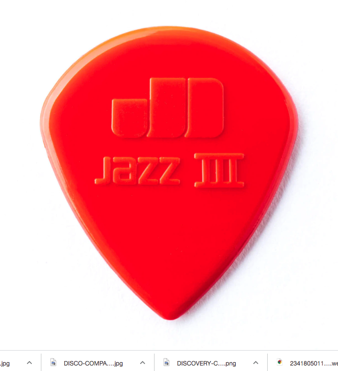 Dunlop 47P3N Nylon Jazz III Guitar Picks