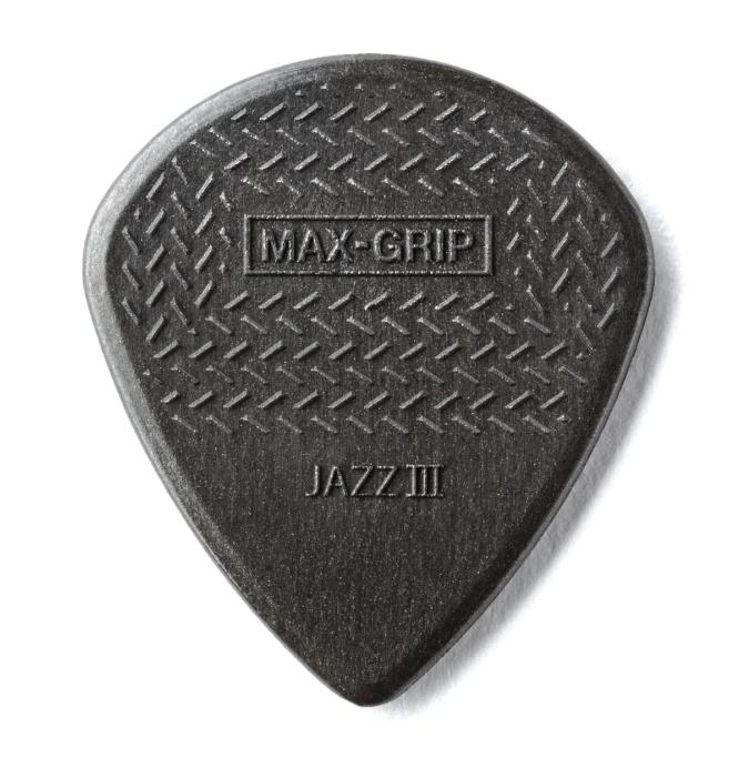 Dunlop 471R3C Max-Grip Carbon Fiber Jazz III 24 Pack Guitar Picks