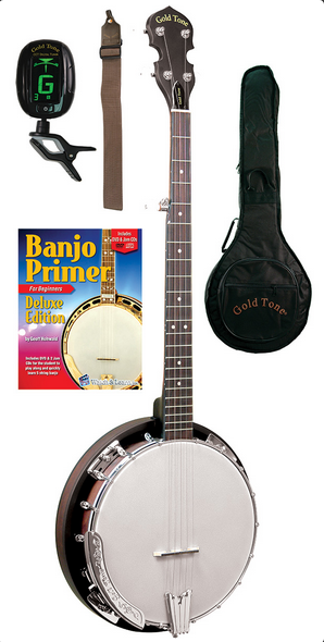 Gold Tone Cripple Creek CC-BG Banjo Bluegrass Starter Pack