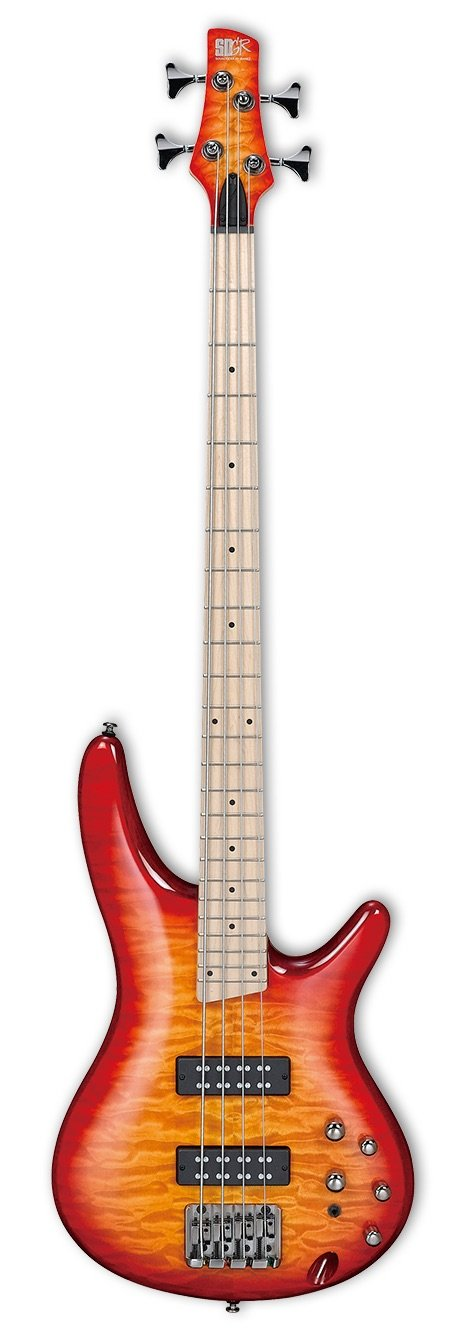 Ibanez SR400EMQMSRT Electric Bass - Sunrise Red Burst Maple Fingerboard