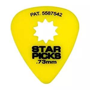 Star Picks 0.73mm Guitar Picks 12 Pack - Yellow