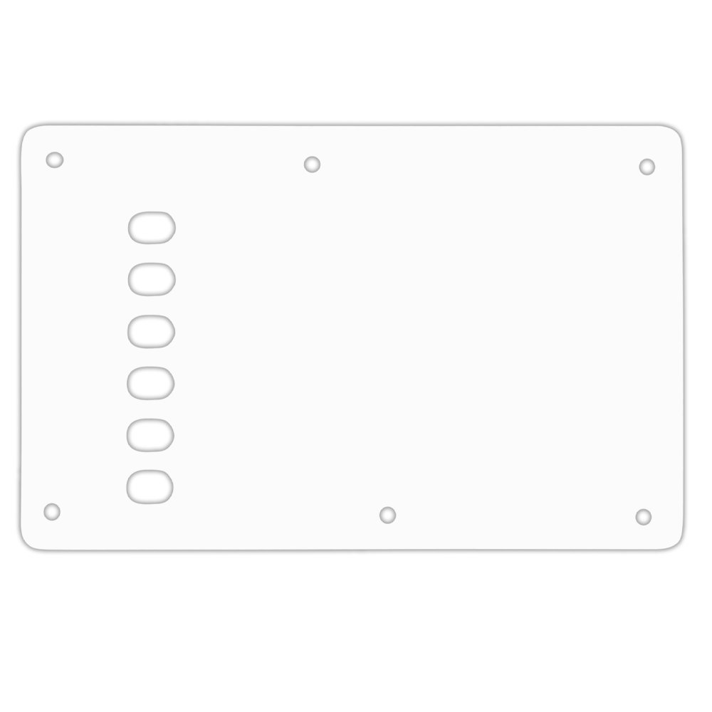 WD Fender Stratocaster Backplate - White