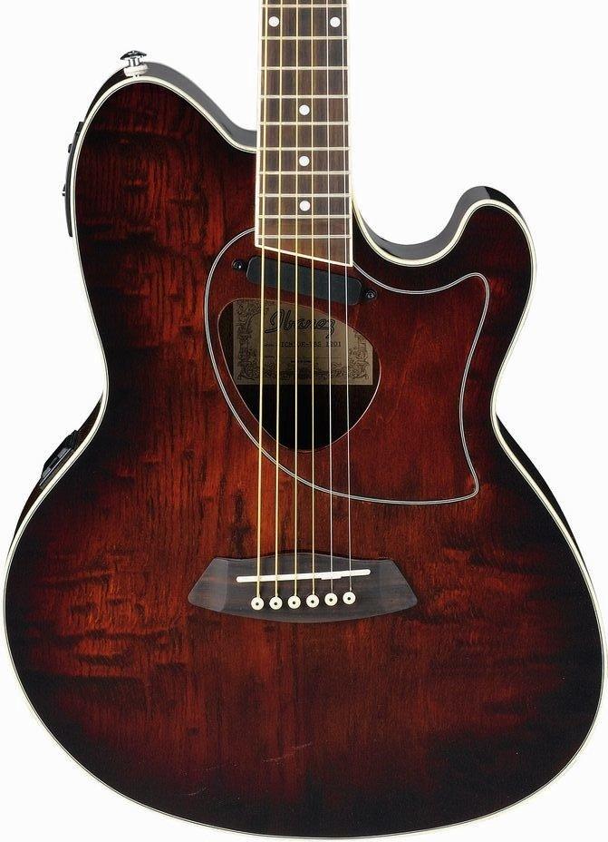 Ibanez TCM50 Talman Cutaway Acoustic-Electric Guitar-Vintage Brown Sunburst