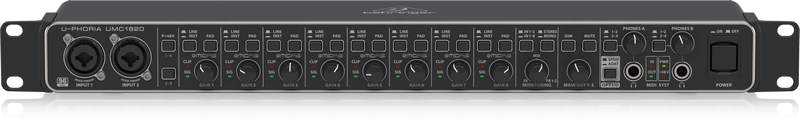 Behringer UMC1820 Audiophile USB Audio/MIDI Interface with Midas Mic Preamplifiers