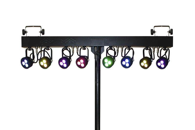 Blizzard Weather System RGB LED Fixtures w/stand, brackets, and case