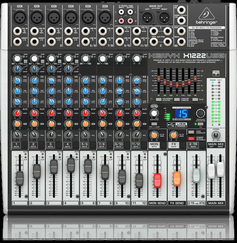 Behringer XENYX X1222USB Premium 16-Input 2/2-Bus Mixer and USB/Audio Interface