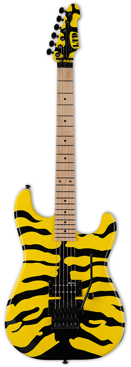 ESP/LTD GL-200MT George Lynch Signature Guitar - Yellow w/ Tiger Graphic