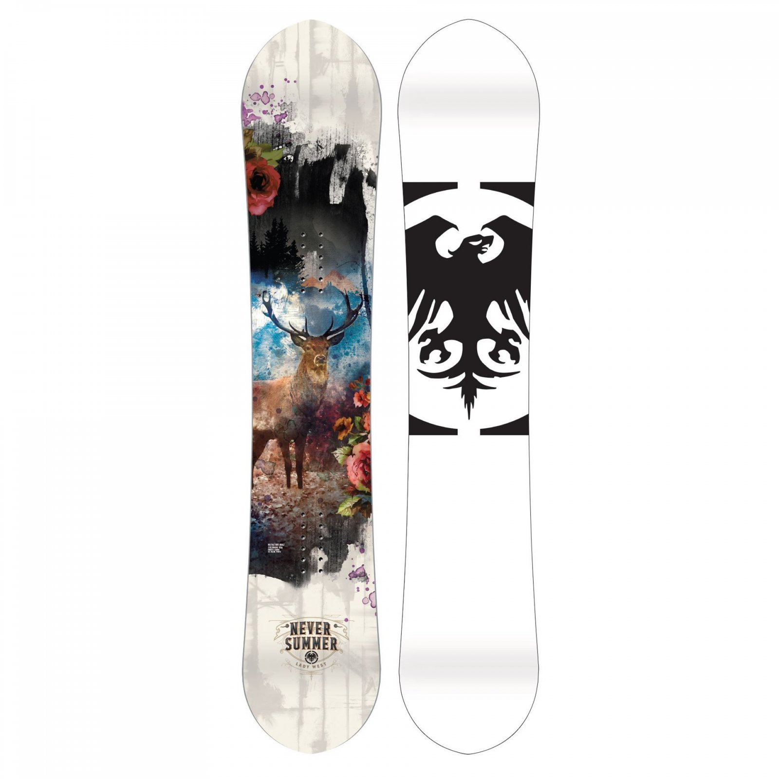 Never Summer Lady West Snowboard 2020