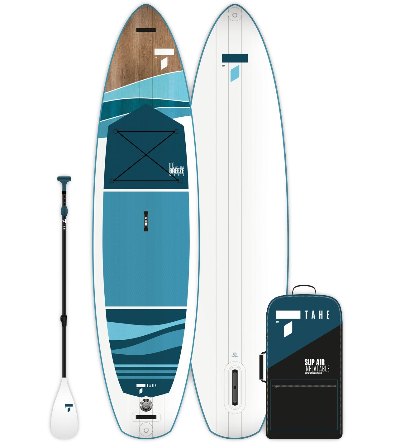 Tahe Breeze Wing 11'0 Inflatable Stand Up Paddleboard Package