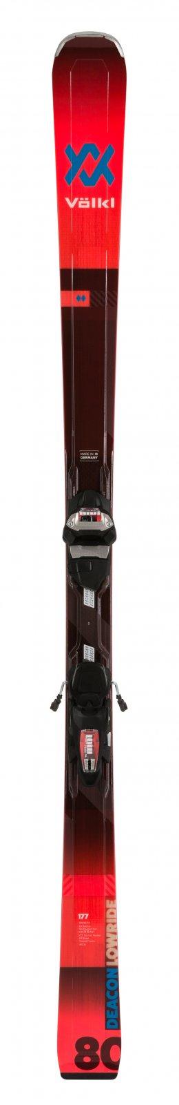 Volkl Deacon 80 + LowRide XL 13 FR Demo GW Flo-Red Skis 2020 - size 177cm