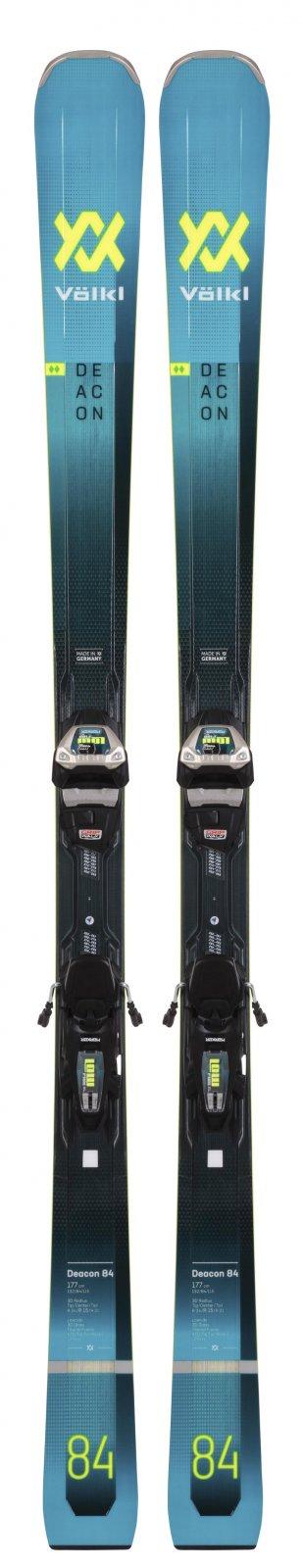 Volkl Deacon 84 Skis + Lowride XL 13 FR Demo GW Skis 2021
