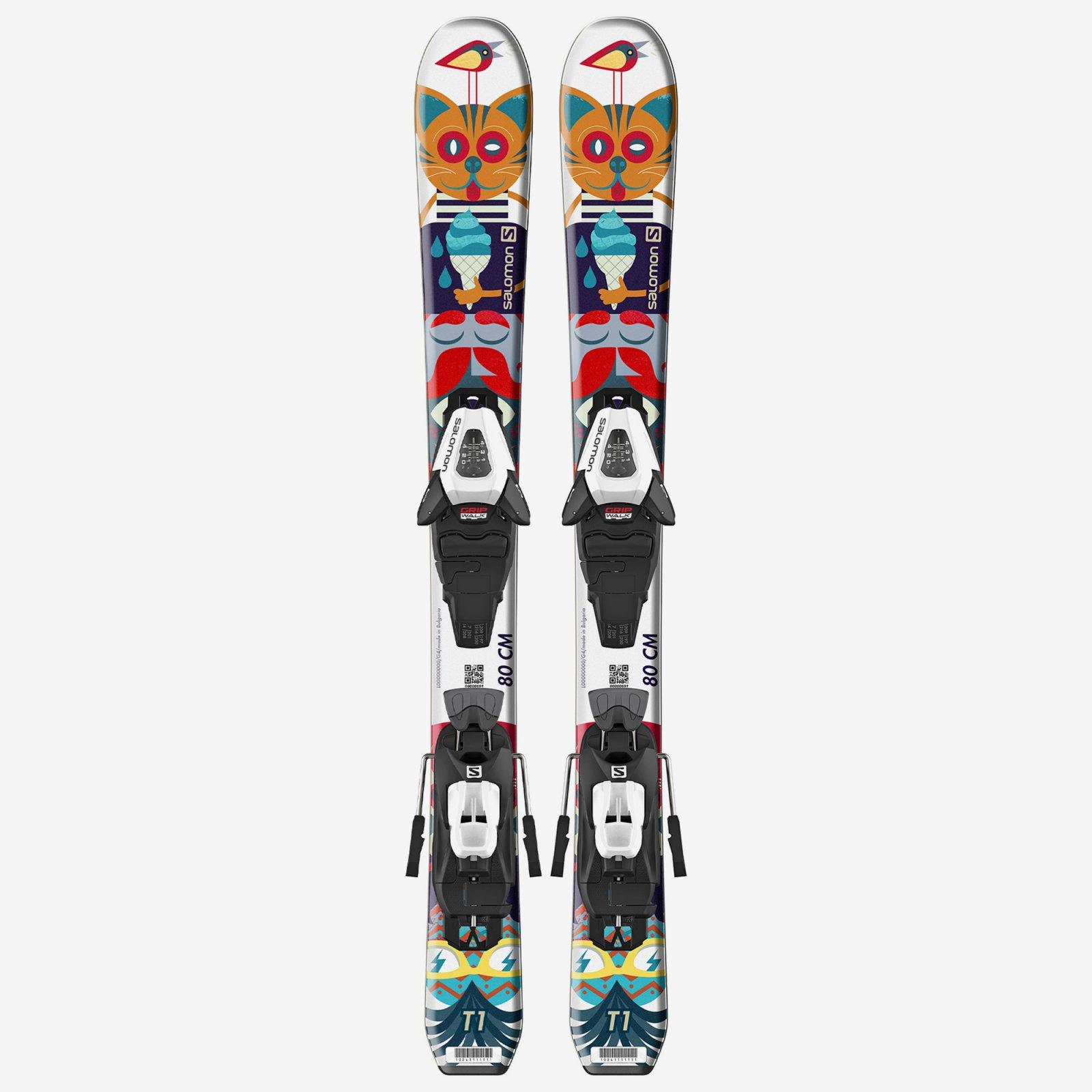 Salomon T1 Jr xs Skis + C5 GW J75 2020