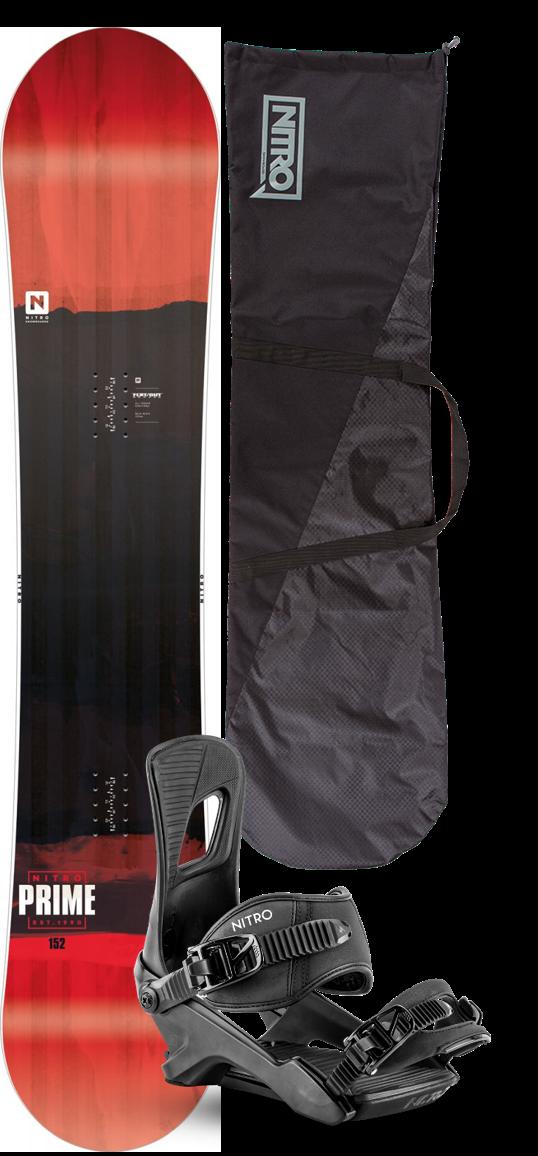 Nitro Prime Snowboard Package 2020