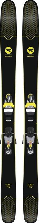 Rossignol Soul 7 HD Skis + Look SPX12 Dual B120 Concrete/Yellow Konect Bindings 2019