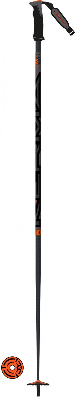 Kerma Speedzone Carbon 40 Safety Ski Poles 2020