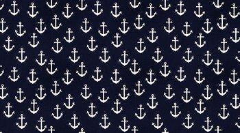 Anchors - nautical on navy- by Dear Stella
