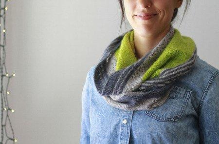 3 Color Cashmere Cowl pattern by Joji Locatelli