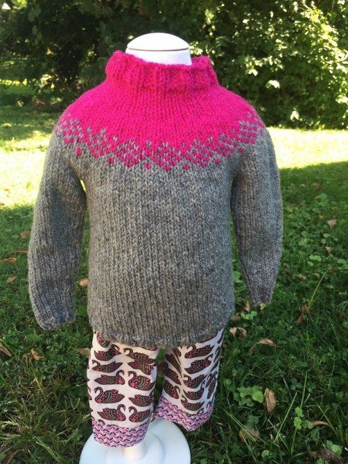 Fair Isle baby sweater pattern