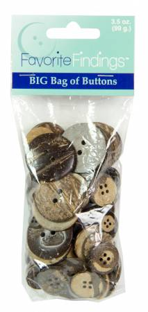 Coconut - Big Bag of Buttons