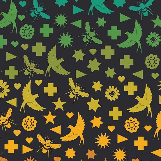 Seventy Six Bird & Bee - Night - Art Theory by Alison Glass