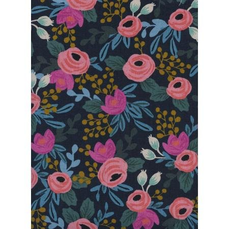 Canvas - Menagerie- Rosa navy- Rifle Paper Company