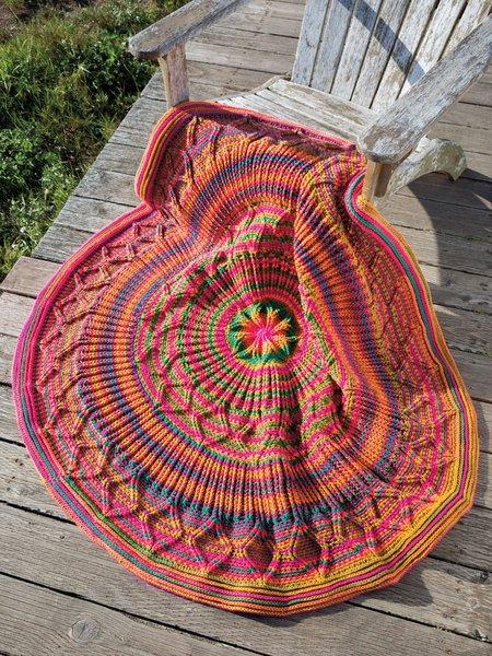 Alegria Afghan - Crochet pattern