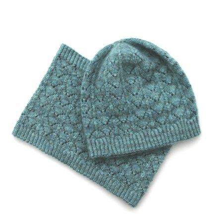 Azurine Hat & Cowl pattern by Ambah O'Brien