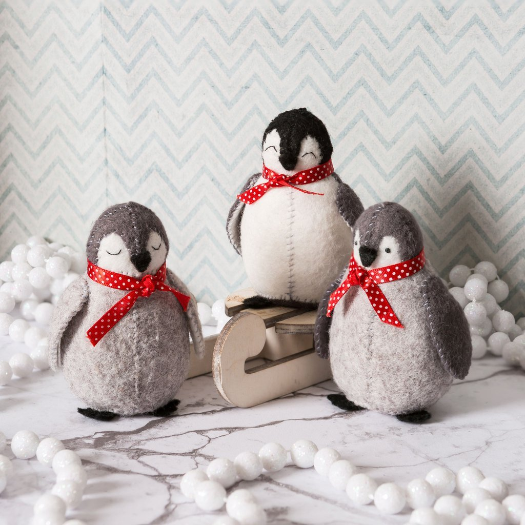 Baby Penguins Felt Kit by Corinne Lapierre