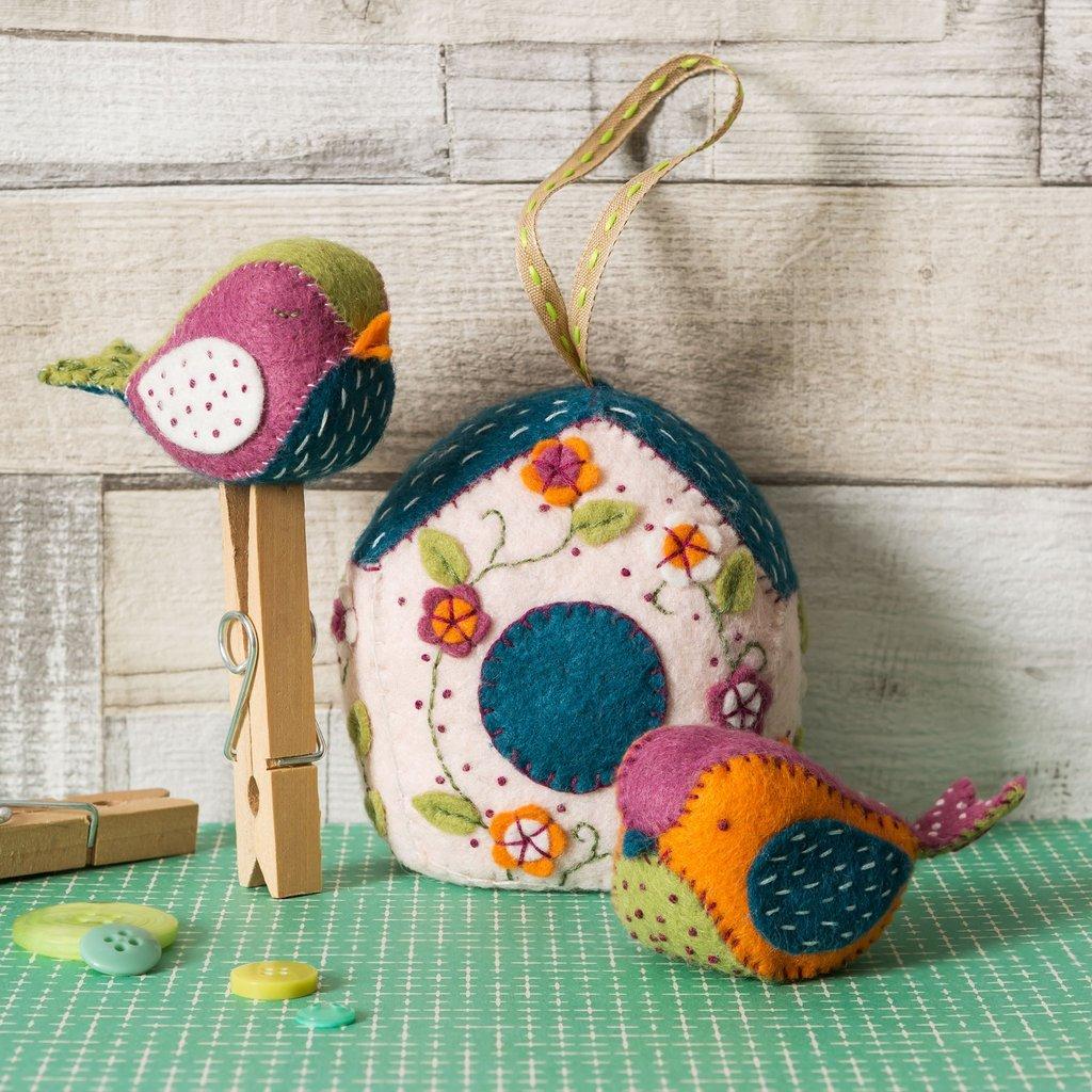 Birdhouse Felt Kit by Corinne Lapierre