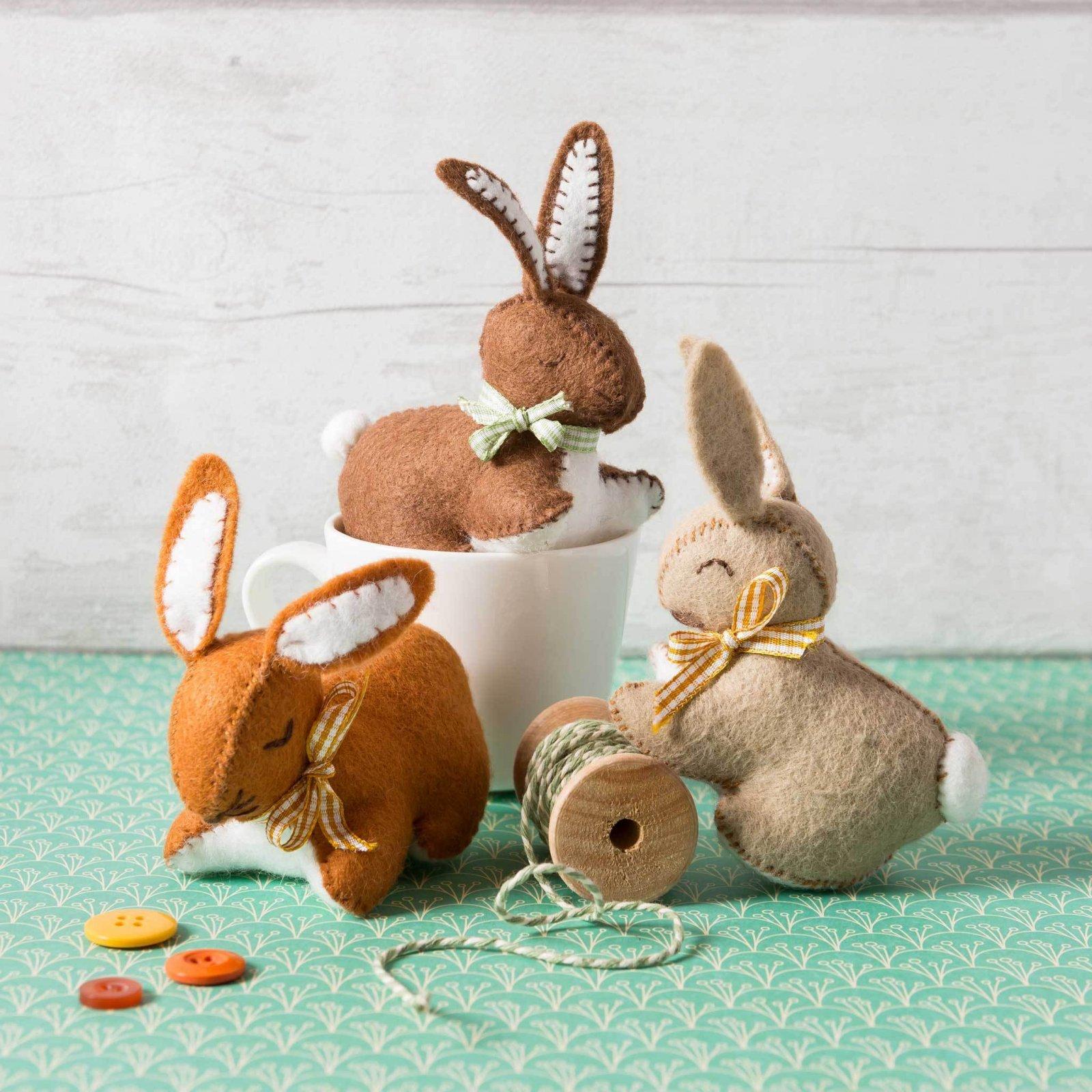 Bunny Family Felt Kit by Corinne Lapierre