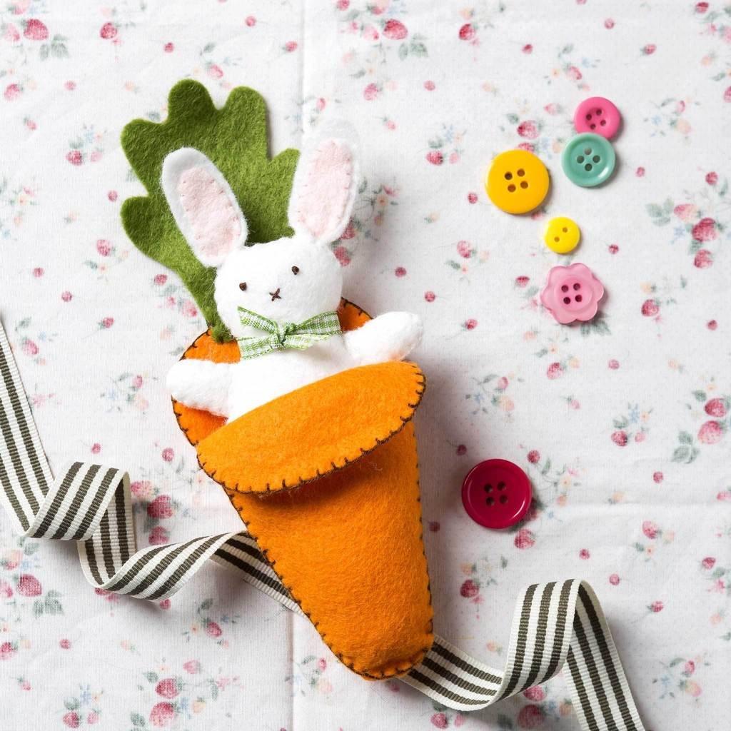 Bunny in Carrot Felt Kit by Corinne Lapierre
