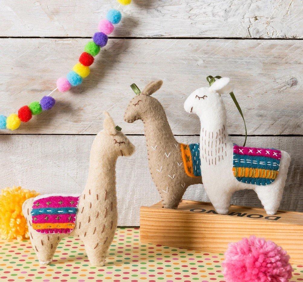 Llamas Felt Kit by Corinne Lapierre