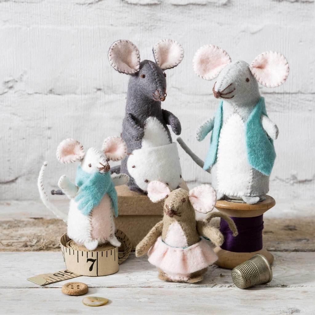 Mouse Family Felt Kit by Corinne Lapierre