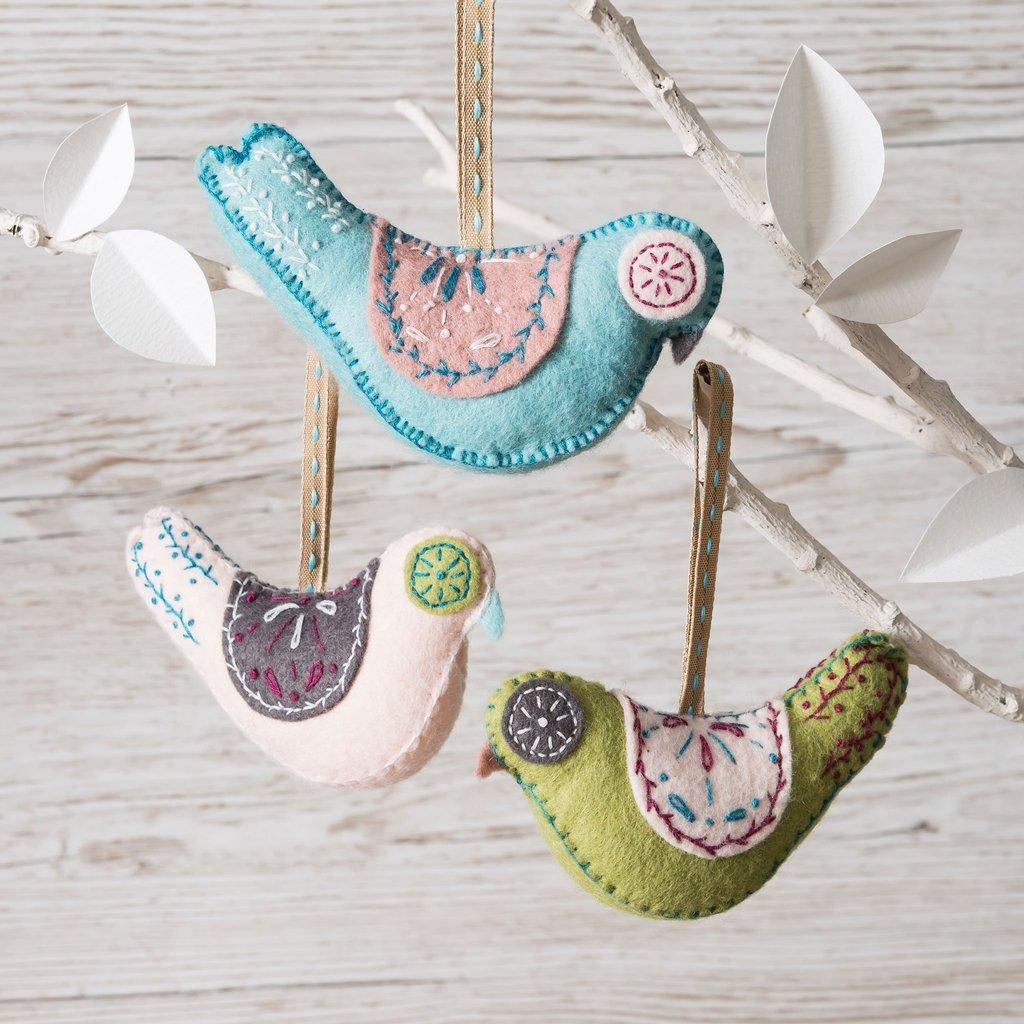 Scandinavian Birds Felt Kit by Corinne Lapierre