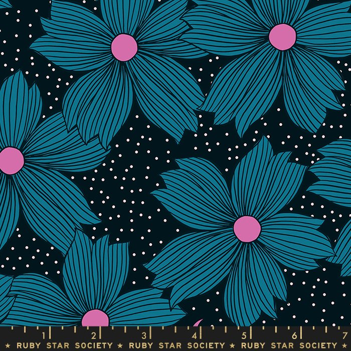 Crescent - Floral Teal - by Sarah Watts Ruby Star