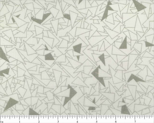 Backing - Grey on White Triangles - 108 Wide