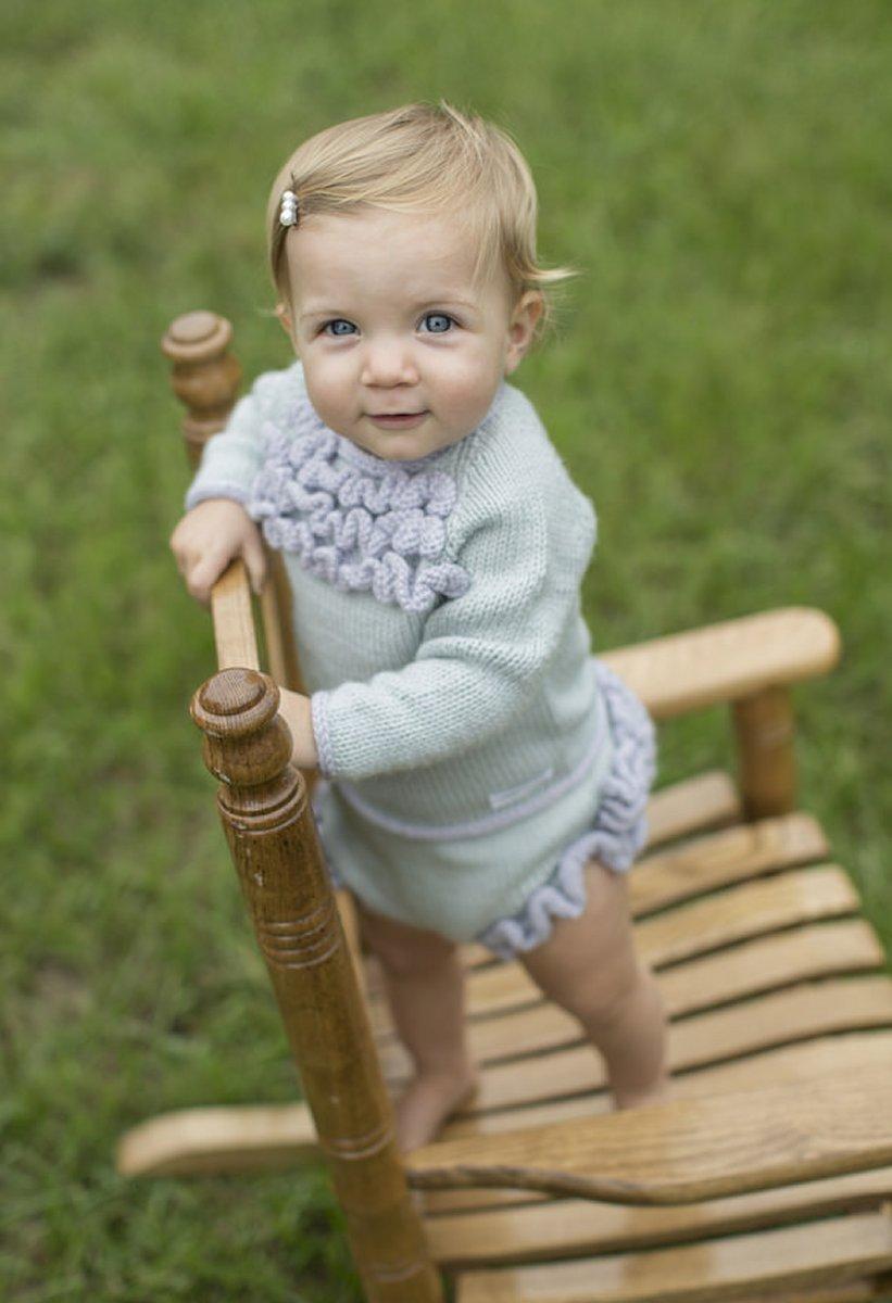 Fancy Ruffles - Pullover & Diaper Cover knitting pattern