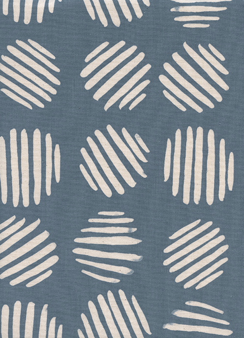 Cotton + Steel - Panorama - Coin Dots - Dolphin