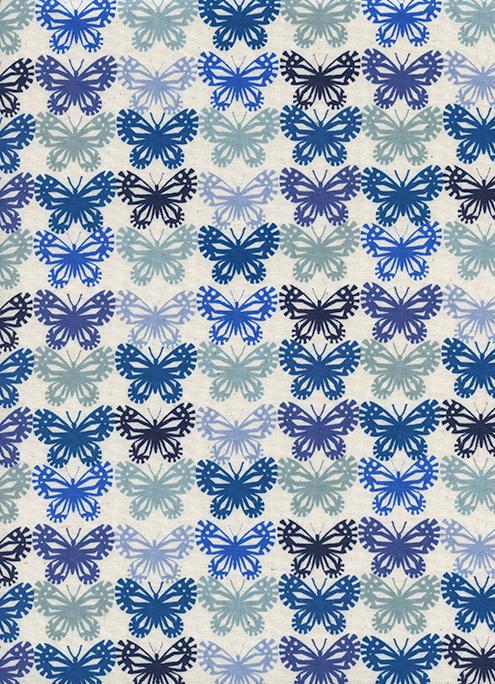 Cotton + Steel - Panorama - Butterflies - Blue Ribbon