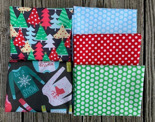 Christmas Sweaters Fat Quarter Pack - 5