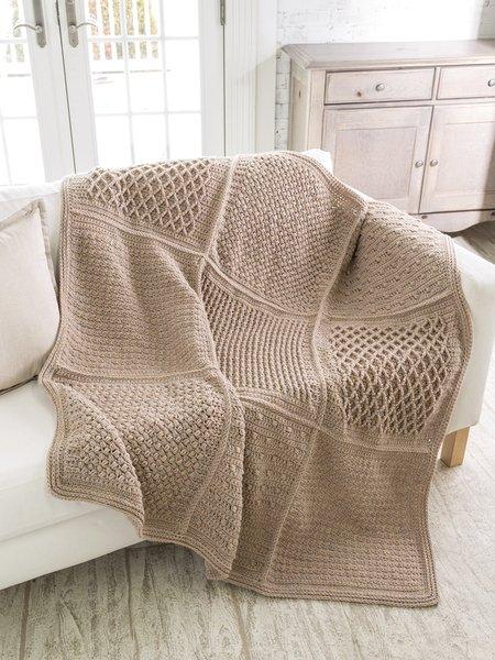 Gansey Block Afghan - Crochet pattern