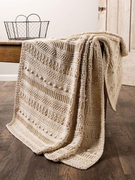 Gansey Style Afghan - Crochet pattern