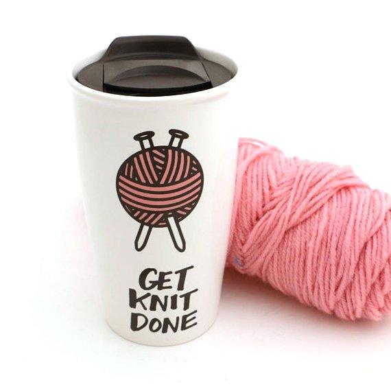 Get Knit Done Travel Mug