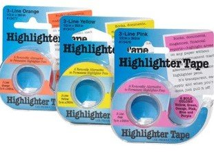 Highlighter Tape - 1/2 x 393