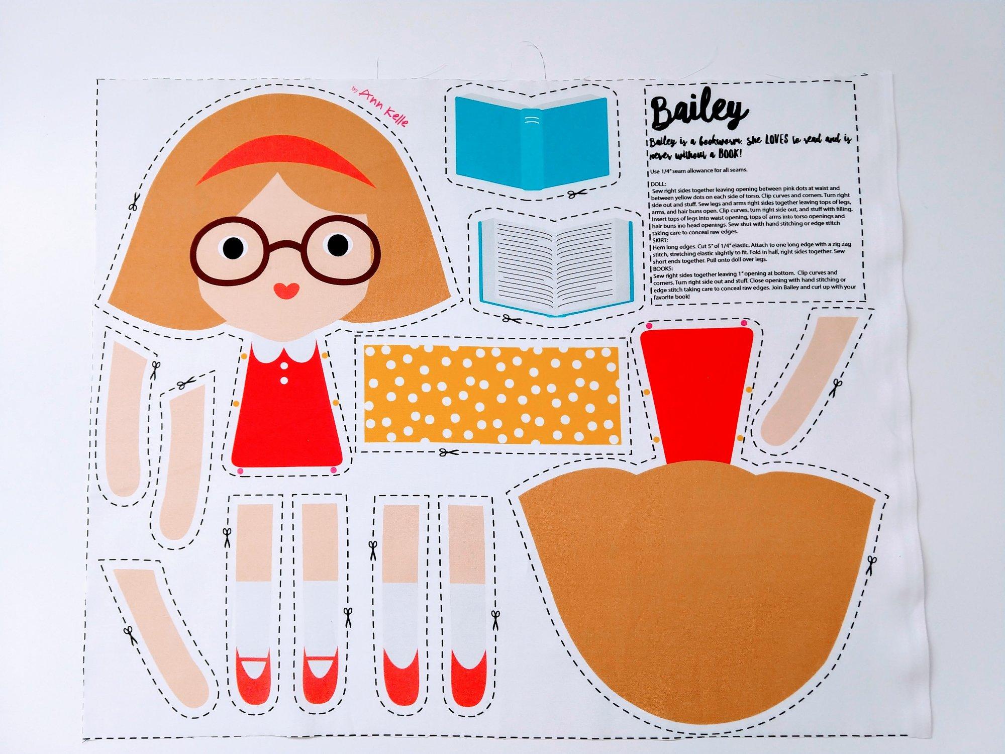 Ann Kelle Doll Fat Quarter