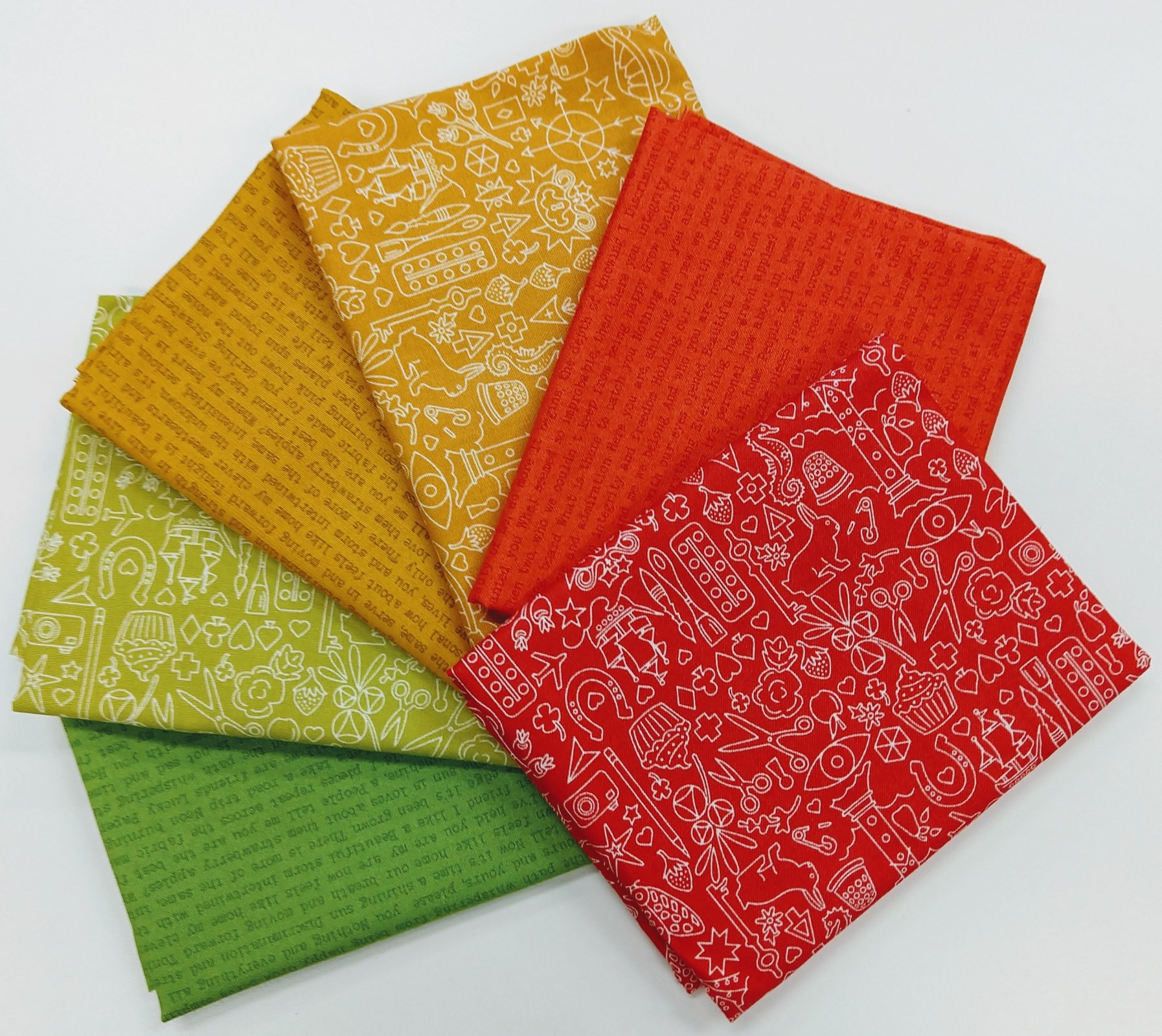 Alison Glass Sun Prints Warm - Fat Quarter Pack 6